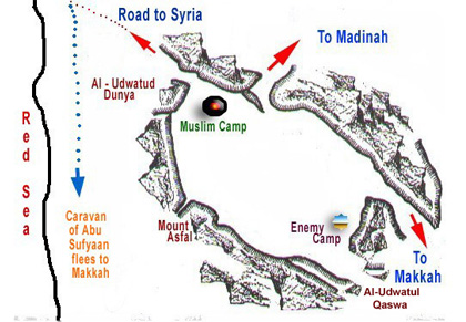 Battle of Badr Map_English 2a
